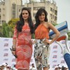 Neha Dhupia and Chitrangda Singh at Gillete shave event