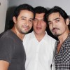 Zulfi Sayyed, Aditya Pancholi And Shawar Ali at Bonny Duggal's party to honour Director Priyadarshan