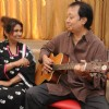 Bhupinder and Mitali Singh at rehersal for the upcoming music album 'Aksar' in Mumbai