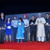 Javed Akhtar at the music launch of film 'Yeh Khula Aasmaan' at Ramada