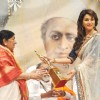 Madhuri Dixit Nene and Lata Mangeshkar at Master Dinanath Mangeshkar Awards 2012