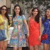 Maliaka Arora Khan, Anu Dewan and Amrita Arora at Shilpa Shetty's Godhbharai Ceremony