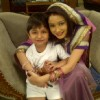 Paridi with Ansh on sets of Punar Vivah