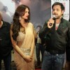Mahesh Bhatt, Emraan Hashmi and Esha Gupta at the premiere of Jannat 2 at Diera City Centre Dubai