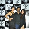 Model Candice Pinto with designer Rocky S and a friend at the Launch Party of F Lounge