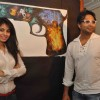 Manisha Kelkar, Aditya Om, Annie Chatterjee,Altaaf Raja and Nikhil promoting upcoming film 'BANDOOK' at a Painting Exhibition