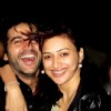 Hiten with wife Gauri on New Year 2012