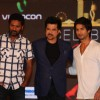 Prabhu Deva, Anil Kapoor and Shahid Kapoor at IIFA Awards 2012
