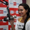 Sonakshi Sinha promotes film ROWDY RATHORE at 92.7 BIG FM Studios in Mumbai with RJ Rani on Monday