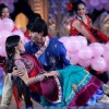 Deepika Singh with Anas Rashid on the sets of Diya Aur Baati Hum