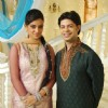 Ssumier and Shweta on Sasural Simar Ka set