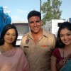Neha and Shafaq with Akshay Kumar