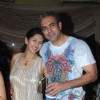 Deepti Bhatnagar with husband at Mika Singh's Birthday Bash organised by Kiran Bawa