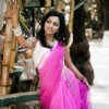 Vartika posing in a saree