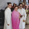 Kush Sinha, Poonam Sinha and Luv Sinha at Esha Deol and Bharat Takhtani wedding ceremony