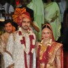 Esha Deol and Bharat Takhtani at their wedding ceremony