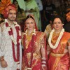 Hema Malini at Esha Deol and Bharat Takhtani at their wedding ceremony