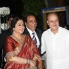 Kirron Kher, Dharmendra and Anupam Kher at Esha Deol's Wedding Reception