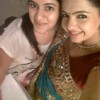 Giaa Manek aka Gopi Modi on the set of Saathiya.