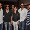 bhishek Bachan, Prachi Desai, Ajay Devgan and Rohit Shetty of Bol Bachchan meet fans at Fame