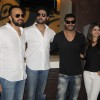 Rohit Shetty, Abhishek Bachchan, Ajay Devgan and Prachi Desai of Bol Bachchan selling ticket at Fame