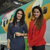 Shruti Seth and Shivshakti Sachdev at Unveiling of India�s 1st Disney branded Jet Airways plane