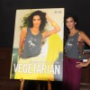 Poorna Jagannathan poses during the Launch of Peta's Pro-Veg campaign