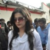 Bollywood actress Zarine Khan at Dara Singh funeral. .