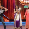 Salman Khan, Madhuri Dixit and Katrina Kaif on the sets of Jhalak Dikhhla Jaa