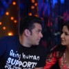 Salman Khan & Katrina Kaif on the sets of Jhalak Dikhhla Jaa to promote their film 'Ek Tha Tiger'