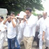 Arjun Rampal at the funeral of cinematographer and director Ashok Mehta