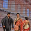 Karam Rajpal and Priya Chauhan on ramp at the Beti show by Vikram Phadnis at IIJW 2012