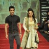 Yuvraj Thakur and Abigail Jain walk on the ramp for Gitanjali Jewellers at IIJW in Mumbai