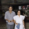 Tanvi Azmi attended the prayer meet for Shri.AK Hangal at Juhu in Mumbai