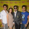 Bollywood celebrities Alia Bhatt, Varun Dhawan, Sidharth Malhotra, and Karan Johar at Red FM and Radio Mirchi for Student Of The Year radio promotions. .