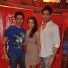 Bollywood celebrities Alia Bhatt, Varun Dhawan, and Sidharth Malhotra at Red FM and Radio Mirchi for Student Of The Year radio promotions. .
