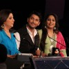 Farah Khan, Marzi Pestonji and Geeta Kapur on the sets of Dance India Dance