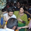Raj Kundra, Shilpa Shetty and Shamita Shetty at Shilpa Shetty's Ganpati Visarjan