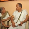 Nana Patekar with his mother celebrating Ganesh Chaturthi