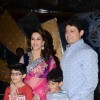 Madhuri Dixit with her husband Dr Sriram Nene and kids on the sets of Jhalak Dikhhla Jaa