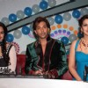 Bollywood celebrities Sonakshi Sinha with Sonali Bendre and Terence Lewis on the sets of Hindustan Ke Hunarbaaz in Mumbai.