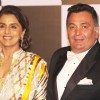 Rishi Kapoor with wife Neetu Singh at Amitabh Bachchan's 70th Birthday Party
