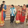 Star Plus dandia shoot with singer Falguni Pathak in Mumbai.