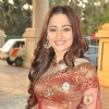 Actress Sanjeeda Sheikh at  Star Plus dandia shoot in Mumbai