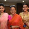 Kajol, Tanisha Mukherjee with mother Tanuja at the North Bombay Sarbojanin Durga Pooja celebrations.