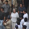 Mukesh Rishi attend pays last respect during the funeral of legendary filmmaker Yash Chopra