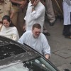 Nitin Mukesh attend pays last respect during the funeral of legendary filmmaker Yash Chopra