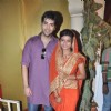 Kinshuk Mahajan and Mitali Nag on Navami at the DN Nagar Durga Puja in Mumbai.