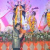 Kailash Kher at the Sindoor Utsav at North Bombay Sarbojanin Durga Puja.