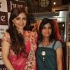 Soha Ali Khan with Mahima Bansal (proprietor of HUE) at the launch of HUE fashion's new collection at Inox in Nariman Point, Mumbai